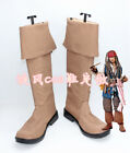 NEW! Pirates of the Caribbean Jack Sparrow  Cosplay Shoes Boots Any Size C8893