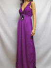 Women's Low V Cut Smocked Maxi Sundress Beach Cover Casual Nightgown Solid Color