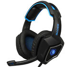 Sades Gaming Headset Mic 7.1 Surround Sound Stereo Bass Headphones USB for PC