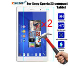 2pcs Genuine Tempered Glass 9H Screen Protector For Sony Xperia Z2 Z3 Z4 Tablet