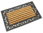 Rubber Natural Coir Leaf Doormat Heavy Duty 45cm x 75cm x 20mm