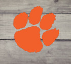 Clemson Tiger Paw Vinyl Decal - Sale- Auto, Yeti, Laptop, Cellphone And More