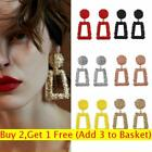 Trendy Punk Jewelry Metal Statement Dangle Drop Earrings Big Gold Geometric