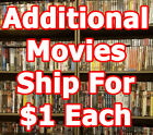 HUGE DVD List 2! Family/Action/Drama/Horror P-S $3 Shipping + $1ea additional