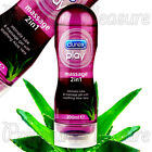 Durex PLAY Massage Lubricant 2in1 200ml * Aloe Guarana Ylang Stimulating Lube