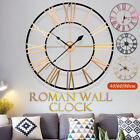 40/60/80cm Outdoor Garden Vintage Roman Wall Clock Big Numerals Metal Round Face