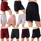 Womens Pleated Baggy Shorts Ladies Elasticated Waist Casual Party Wear Pants
