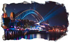 Australia Sydney Opera House Magic Window Wall Art Self Adhesive Poster V3*