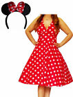 MRD@ Funfash Plus Size Halloween Costume Red White Dots Dress Minnie Mouse Ears
