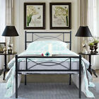 Platform Bed Frame Twin Full Size Metal Bed Mattress Foundation with Headboard