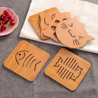 Cartoon Hollow Wooden Table Coasters Cup Pot Mat Placemat Kitchen Tool FC0A