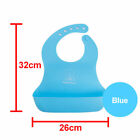Waterproof Baby Silicone Bibs Feeding bib Kids Roll up Food Catcher Pocket