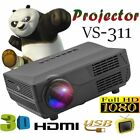 1080P Home Multimedia Cinema Theater Mini LED Projector &Build-in speaker Lot BT
