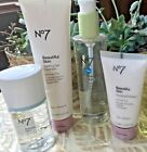 BOOTS NO7 Beautiful Skin MELTING GEL Radiance EXFOLIATOR Cleansing OIL Water NEW image