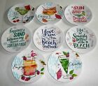 "Внешний вид - COASTAL Melamine Appetizer Plate Assortment  6"" Diameter Set of 4 plates"