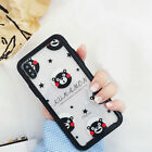 Lovely Cartoon Kumamon Playing Toughened Glass Case Cover for iPhone X 6 7 8Plus