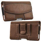 Luxmo Belt Clip Horizontal Plus Size Pouch Case For iPhone Samsung Cell Phone