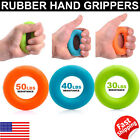 Hand Gripper Muscle Power Fitness Rubber Training Strength Ring Exercise Wrist image