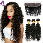 13*4 Lace Frontal closure with Bundles Brazilian Hair Human Hair Curly Hair US