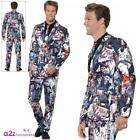Adult Zombie Stand Out Suit Couples Mens Womens Halloween Fancy Dress Outfit