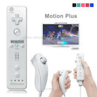 Built in Motion Plus Remote Control Nunchuck Controller for Wii&Wii U US Stock