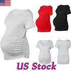 Maternity Women Clothes Pregnant Short Sleeve Tops Stretch B