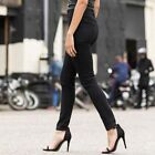 WOMAN SKINNY JEANS (SK600) - BLACK FASHION HIPSTER WORK LADIES 10 -18