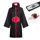 Naruto0 Akatsuki Uchiha Itachi Robe Cloak Coat Cosplay Costume Uniform Headband