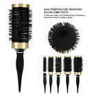 5 Sizes Hair Dressing Brush Ceramic Iron Round Comb Barber Hair Styling Tool