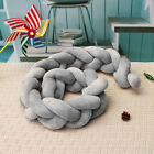 1.5/2/3/4M Pillow Infant Baby Bedding Cushion Braid Crib Plush Bumper Protector