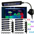 1-10pcs Clip Lamp Light High Lumen 48 LED Aquarium Fish Tank White & Blue LOT BP