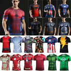 Mens Short Sleeve 3D Printed T-shirt Compression Fitness T Shirt Gym Sport Shirt image