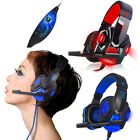 Surround Stereo Gaming Headset Headband Headphone USB 3.5mm LED Mic for PC Game