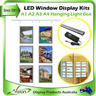 LED Backlit Window Display Real Estate Retail Shop Front Light Box Hanging Panel