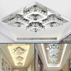 12W-48W Crystal Ceiling Light LED Pendant Lamp Flush Mount Chandelier Fixtures