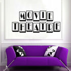 Movie Theatre Cinema Sign Vintage Vinyl Wall Art Sticker Decal Home Letter Decor