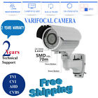 2.4MP VARIFOCAL CCTV BULLET CAMERA 1080P HD TVI AHD 70M NIGHT VISION Waterproof