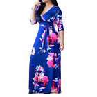 US STOCK WOMEN&#039;S V-NECK WRAP LONG SLEEVE FLORAL PRINT BOHO MAXI LONG LOOSE DRESS <br/> ❤️US Seller❤️60 Days Free Return❤️EXTRA 10% OFF 2+ ITEM
