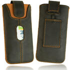 ORLINE Mobile Phone Case Leather with Retractable Tab Closure for Samsung