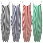New Womens Strappy Camisole Stripes Italian Lagenlook Baggy Drape Maxi Dress