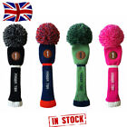 Golf Pom Pom Head Covers #1Drive #3Fairway #5Hybrid Golf Club Headcover In Stock