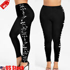 Womens Soft Leggings Stretch Pants Long Full Length One Size