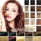 """Clip in Remy Human Hair Extensions 15""""18""""20""""22"""" Long 7Pcs Clip On Head Real Hair"""