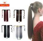 Real Thick Clip In As Human Hair Extensions Pony Tail Wrap On Ponytail Long