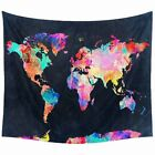 Art World Map Print Tapestry Decoration Wall Hanging Tapestry Room Home Decor