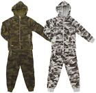 Boys Army Camo Zip Hoody Tracksuit Camouflague Jog Suit Set 4 to 14 Years