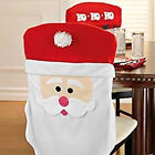 Santa Claus Chair Seat Covers Holiday Decor Table Decorations Red/White