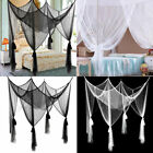 Romantic 4 Corner Post Bed Canopy Mosquito Net Full Queen King Size Bedding Home image