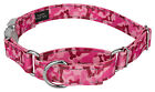 Pink Bone Camo Reflective Martingale Dog Collar With Premium Buckle