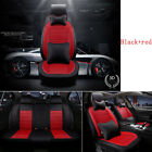 Deluxe 5 Seats Car PU Leather Seat Cover All Seasons Rear Front Pillow + Cushion